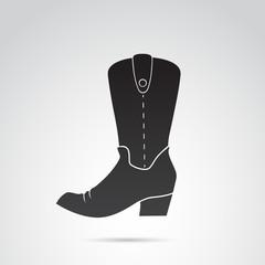 Cowboy boots vector icon.