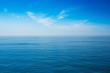 Foto auf Leinwand See / Meer Sea Ocean And Blue Clear Sky Background