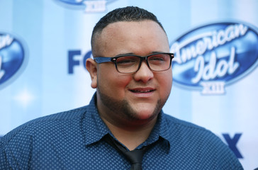 Singer Jeremy Rosado arrives at the American Idol XIII 2014 Finale in Los Angeles
