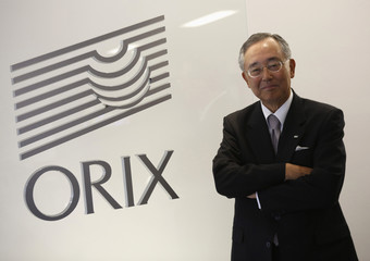 Orix Corp Chairman and Chief Executive Officer Miyauchi poses for photo during an interview with Reuters in Tokyo