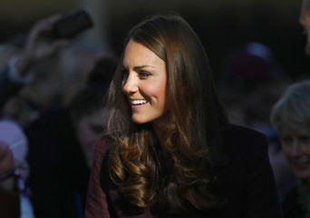Britain's Catherine, Duchess of Cambridge smiles during a visit to the Civic Centre in Newcastle