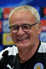 Football Soccer - Leicester news conference - Champions League