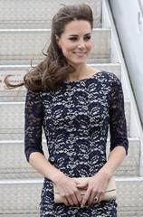 Catherine, Duchess of Cambridge arrives at Macdonald-Cartier International Airport