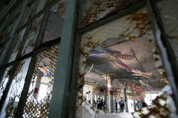 """Ai Weiwei's installation """"With Wind"""" is presented at the Golden Gate National Recreation Area's Alcatraz Island near San Francisco"""