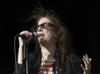 U.S. singer Patti Smith performs during The Hop Farm Festival in Paddock Wood, Kent