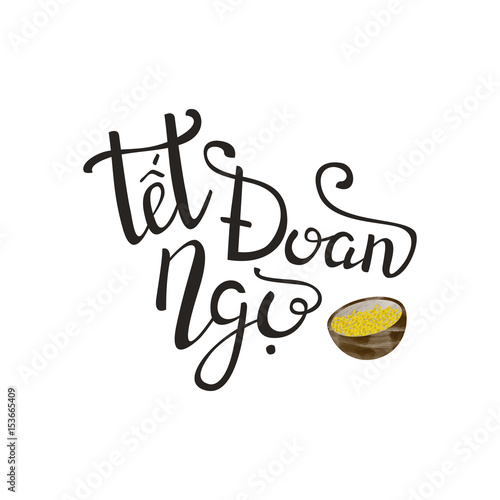 Vector isolated handwritten lettering for tet doan ngo on white vector isolated handwritten lettering for tet doan ngo on white background vector calligraphy for greeting m4hsunfo