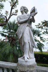 old statue in garden