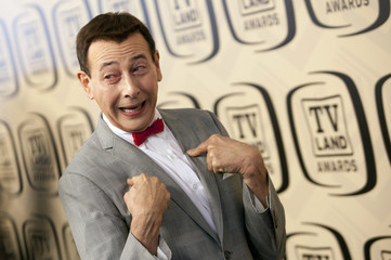 Paul Reubens 'Pee-wee Herman' arrives for the TV Land Awards 10th Anniversary at the Lexington Avenue Armory in New York