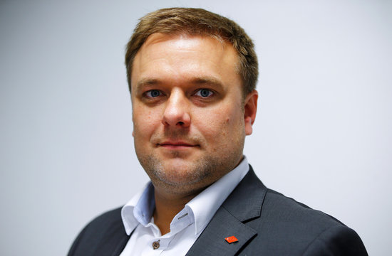 Head of personnel Wiedemann of German pliers and tools maker Knipex poses for a picture in Wuppertal