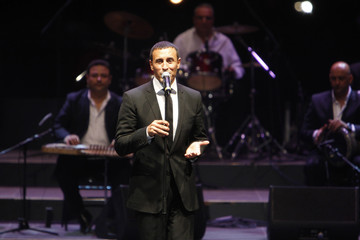 Iraqi singer Kazem al-Saher performs during the Jordan festival at the Amman Citadel
