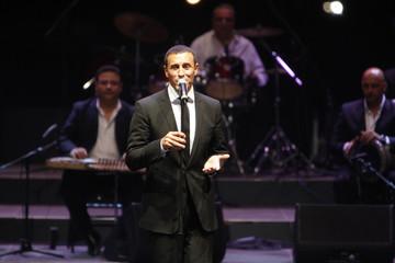 Iraqi singer Kazem al-Saher performs during the Jordan festival at the Amman Citadel