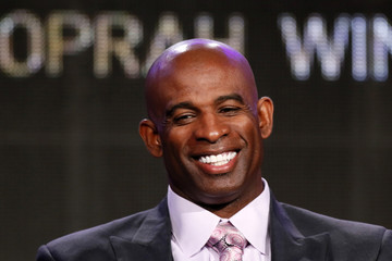 """Deion Sanders talks about OWN: Oprah Winfrey Network's """"Deion's Family Playbook"""" during the Winter 2014 TCA presentations in Pasadena"""