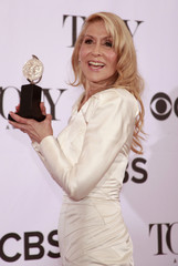 Judith Light poses with her award for Best Performance by an Actress in a Featured Role in a Play at the Tony Awards in New York