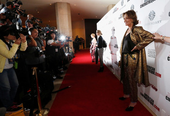 Actor Weaver poses at the 30th annual American Cinematheque Award ceremony in Beverly Hills