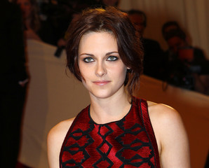 Actress Kristen Stewart arrives at the Metropolitan Museum of Art Costume Institute Benefit celebrating the opening of Alexander McQueen: Savage Beauty, in New York