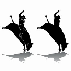 rodeo silhouette . vector drawing