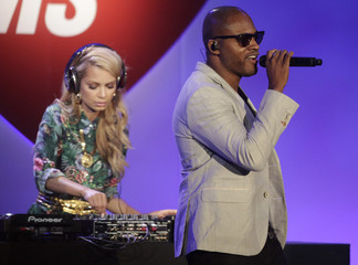 British singer Cruz and DJ KrystalRoxx perform at the 20th annual Race to Erase MS benefit gala in Los Angeles, California
