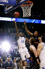 Kentucky Wildcats guard Knight makes the game-winning layup to defeat the Princeton Tigers in their NCAA basketball game in Tampa