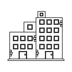 factory building icon image vector illustration design  single black line