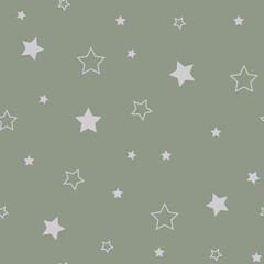 Star seamless pattern. Cute red stars. Baby Shower background. Babies Fashion. Vector illustration