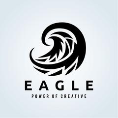 Eagle logo, Pheonix logo, bird logo, vector logo template.
