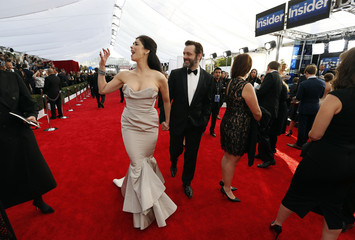 Sarah Silverman and Michael Sheen arrive at the 22nd Screen Actors Guild Awards in Los Angeles