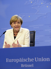 Germany's Chancellor Merkel addresses a news conference after an informal summit of European Union leaders in Brussels