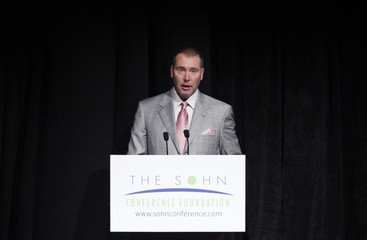 CEO and CIO of DoubleLine Capital Gundlach speaks during Sohn Investment Conference in New York