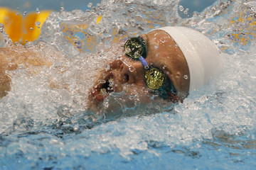 Germany's Steffen swims on her way to win the women's 100m freestyle finals at the German Swimming Championships in Berlin