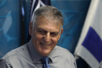 Israeli scientist Shechtman poses for a photo during a news conference at Israel's Technion Institute of Technology in Haifa