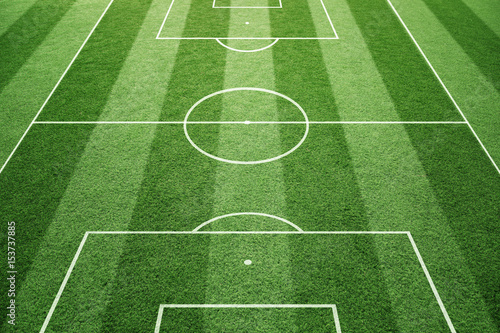 grass soccer field with goal. Beautiful Goal Soccer Play Field Ground Lines On Sunny Grass Pattern Background Goal Side  Perspective Used For Grass Field With S
