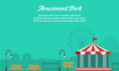 Amusement park background with ornament
