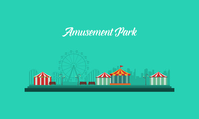 Background amusement park and carnival