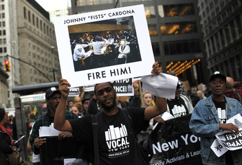 Occupy Wall Street protestors march against police brutality in New York