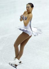 Asada of Japan performs during the women's free skating at the ISU Grand Prix of Figure Skating Final in Sochi