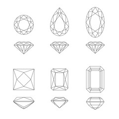 Diamond and gemstone shapes.