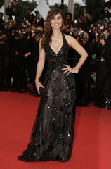 Actress Marlohe poses on the red carpet ahead of the screening of the film Amour by director Haneke in competition at the 65th Cannes Film Festival