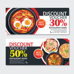 Discount voucher french food template design.
