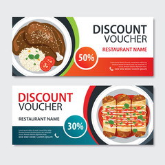 Discount voucher mexican food template design. Set of mole poblano, enchiladas