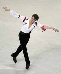 Brandon Mroz skates during the men's short program at the U.S. Figure Skating Championships in Greensboro