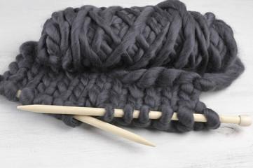 Super chunky knitting