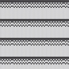 black and white chevron line with straight row knitted pattern background