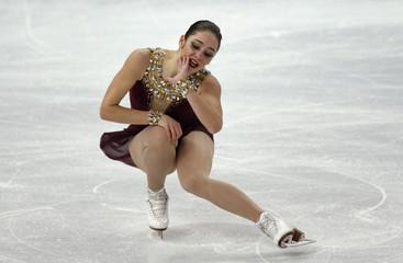 Kaetlyn Osmond during women's free skating program at 2014 Sochi Winter Olympics
