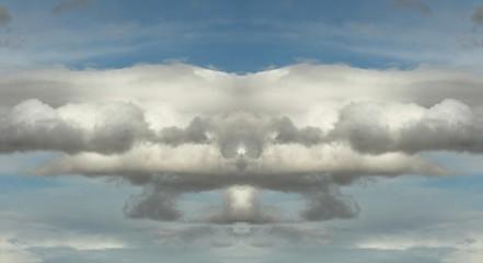 fotografía simétrica de nubes