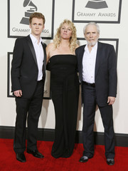 Merle Haggard and his wife Theresa and son Ben arrive at the 56th annual Grammy Awards in Los Angeles