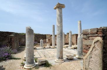 La Maison du Lac du site archéologique de Délos en Grèce