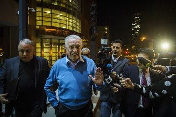 Former Brazilian Football Confederation (CBF) president Jose Maria Marin, exits the Eastern District of New York U.S. Courthouse in Brooklyn, New York