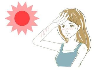夏の太陽 日焼け