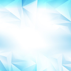 Geometric Ice Abstract Polygonal Design Background