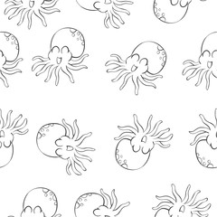 Vector octopus background pattern style